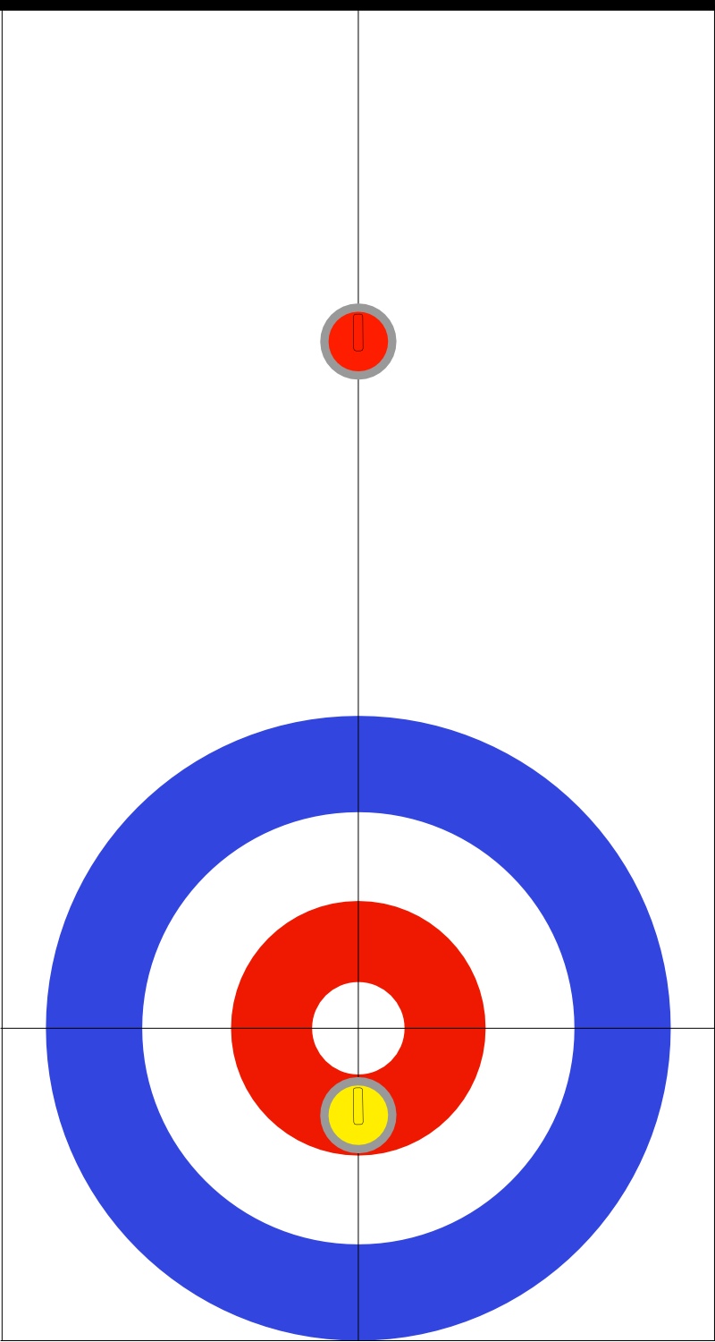 Doubles curling rock placement