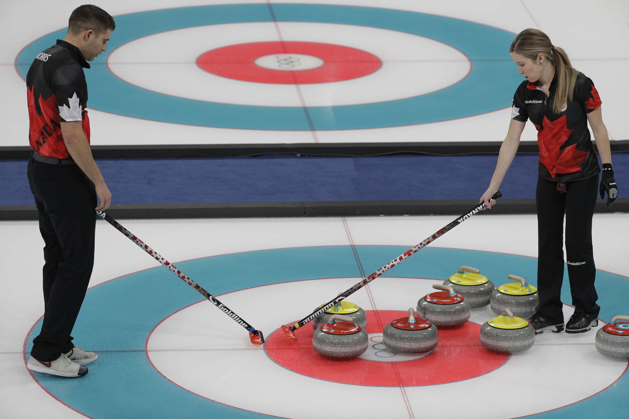 Team canada taking doubles curling strategy at the 2018 olympic games in Pyeongchang